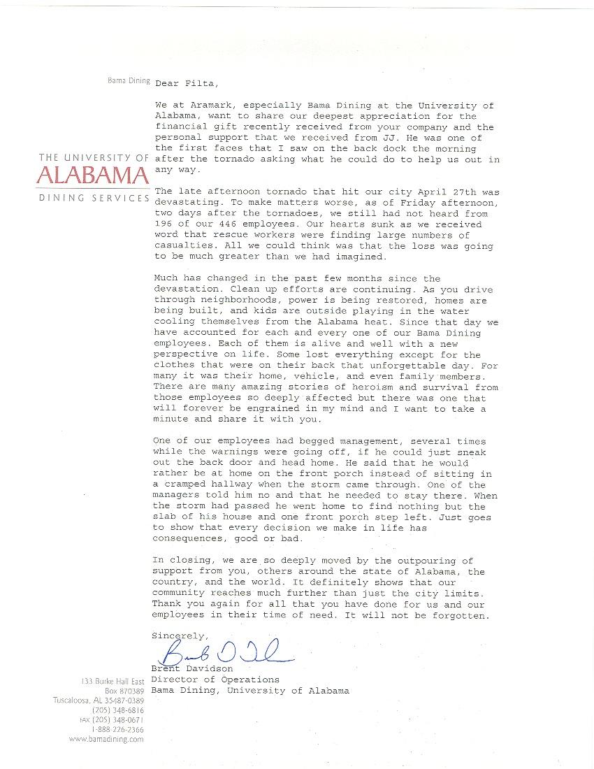 Filta Letter